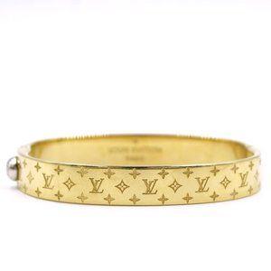 Louis Vuitton Yellow Gold Monogram Bangle Cuff